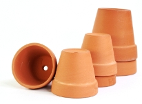 terra cotta pots, house plant containers, clay flower pots